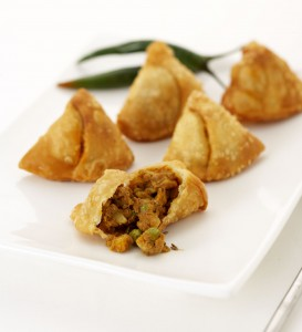 Samosas served as finger food
